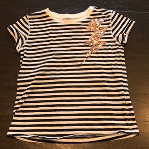 Cat & Jack Striped Sequin Shirt